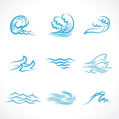 Splashes of water waves