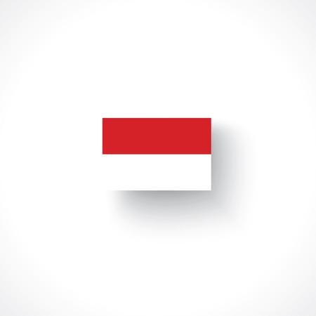 indo china: flag of Indonesia Illustration