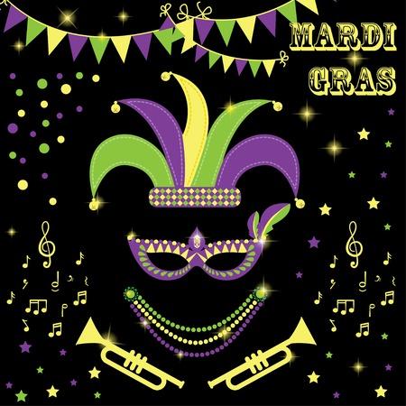a beads: mardi gras design elements