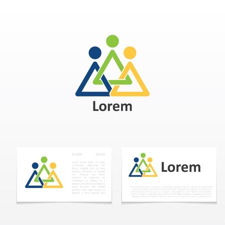 liderazgo: plantilla de tarjeta de visita con el icono de signo abstracto Vectores