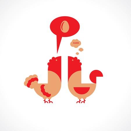clack: chicken would clack