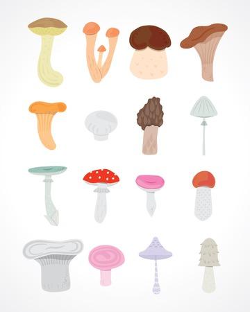 inedible: mushrooms set