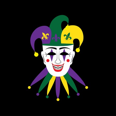 purim carnival party: venetian mask Illustration