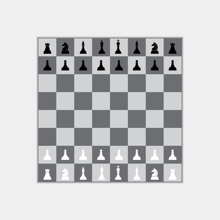 team mate: chess board with chess pieces Illustration