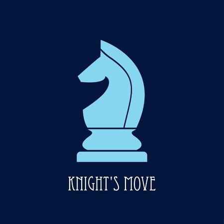 chess knight: Cavaliere di scacchi. simbolo mossa del cavaliere