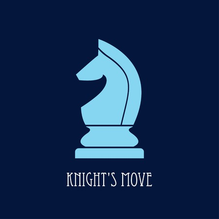 chess knight. knights move symbol