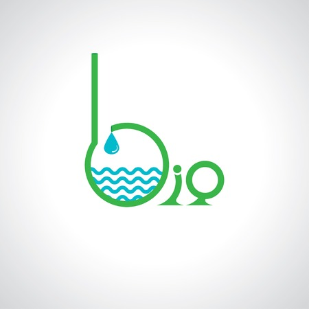 environmental science: abstract bio symbol
