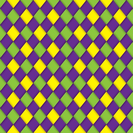 gras: mardi gras seamless wicker pattern