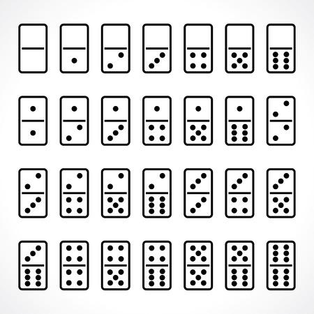 domino set  イラスト・ベクター素材