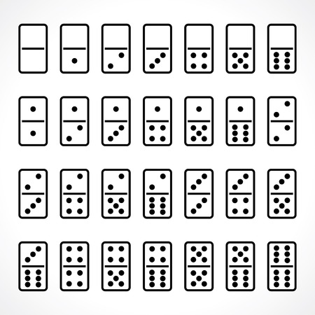 domino set Vectores
