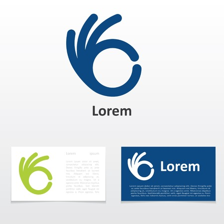 sign OK design business card