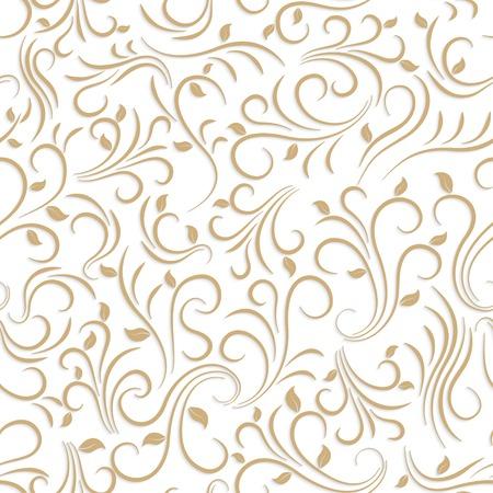 흰색 배경에 꽃 원활한 패턴