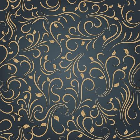 floral seamless pattern on dark background