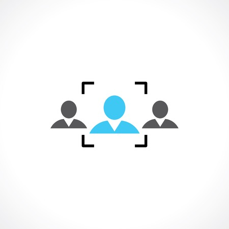 symbol of recruitment people Illustration