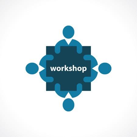 workshop icon. concept symbol Illustration