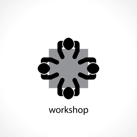 workshop seminar: business workshop concept icon