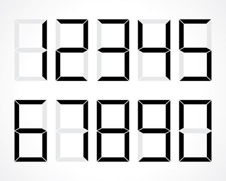 digital numbers: digital numbers vector set