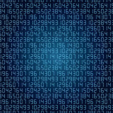 추상 디지털 숫자 배경 블루.