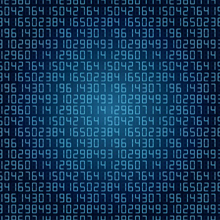 abstract digital numbers background blue.
