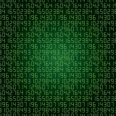 numbers abstract: abstract digital numbers background green
