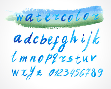 lowercase: alphabet lowercase font watercolor