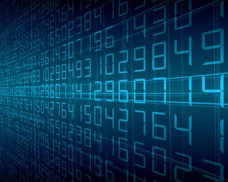 추상 디지털 숫자 배경 블루