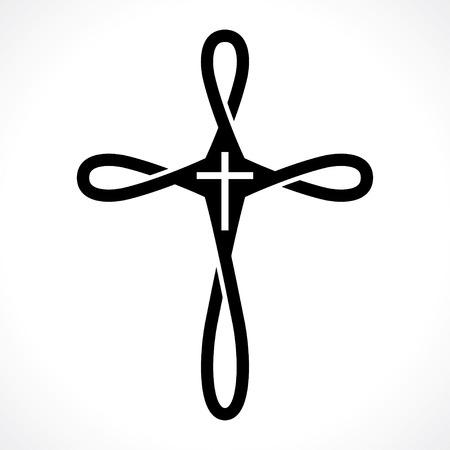heaven?: icono de la cruz cristiana Vectores