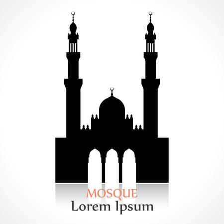 kopule: silueta mešity Ilustrace