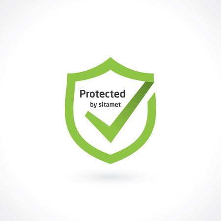 shield mark protection Vector