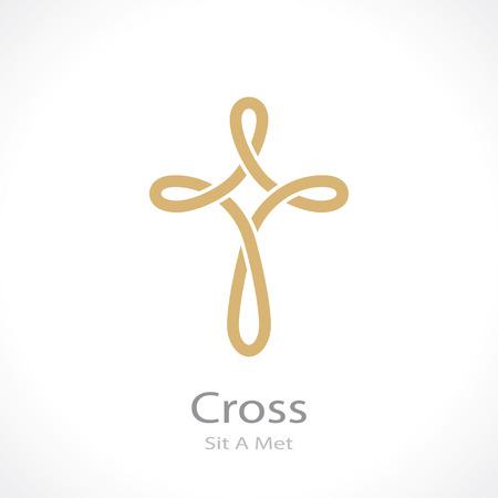 cross weave. vector icon Vettoriali
