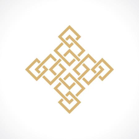 oriental pattern of squares vector  Illustration