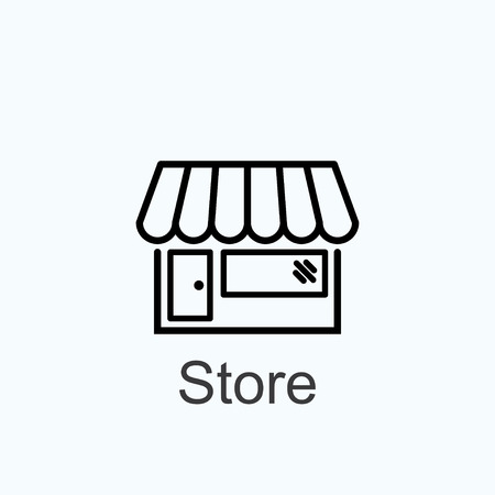 convenient store: store icon Illustration