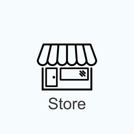 vendedor: tienda de icono