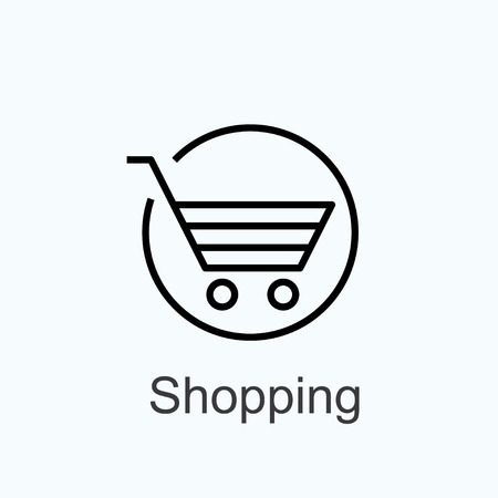 basket - sign shopping. vector icon