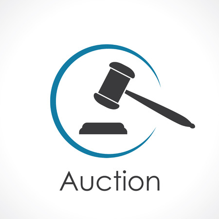 justice legal: auction. icon