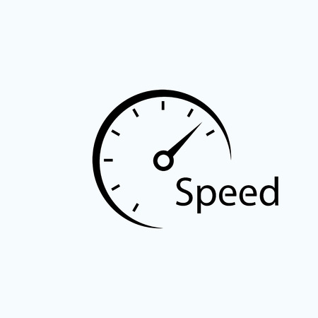 speedometer icon. symbol of speed. template logo design Vectores