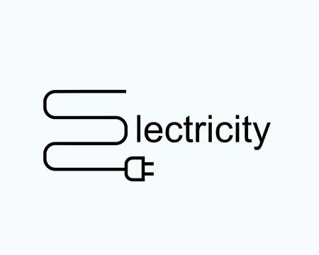 電気の文字 e. 記号の形でプラグとワイヤーします。