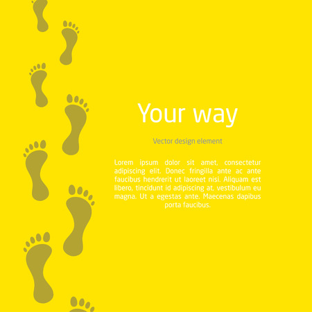 dirty feet: footprint stretching into the distance