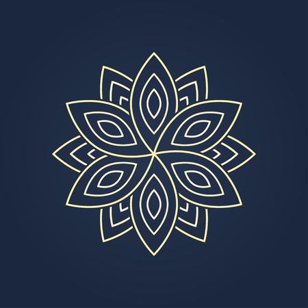 blossom. graphic image of a flower for a logo design. vector eps8 Vettoriali
