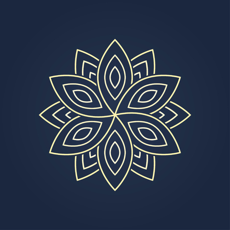 blossom. graphic image of a flower for a logo design. vector eps8 Vectores