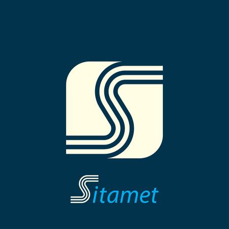 logo element: letter s. template logo design. vector eps8 Illustration