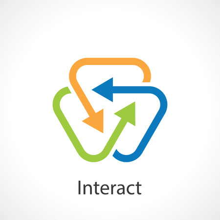 triple: interact arrows abstract symbol