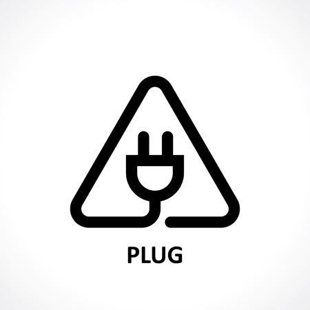 electrical outlet: plug icon. vector eps8 Illustration