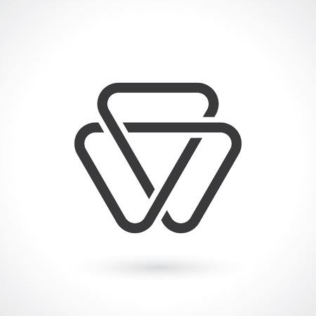 triangular: abctract triangular shape for logo template