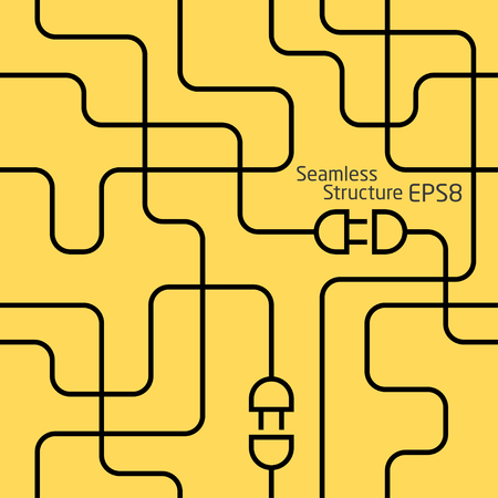 electrical wiring. abstract seamless background Ilustração