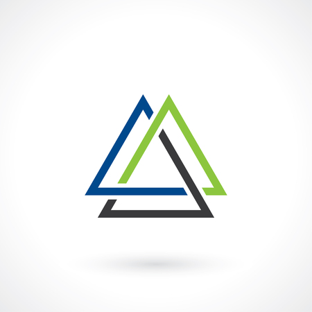 triangles: triangular shape for logo template Illustration