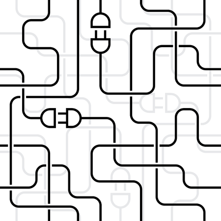 wiring: electrical wiring. white seamless background