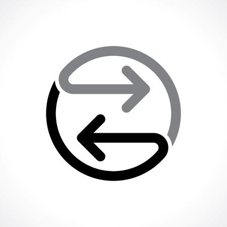 bidirectionele pijlen pictogram Stock Illustratie