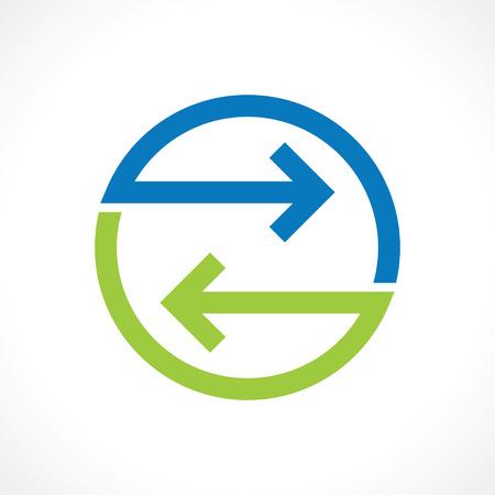 bidirectional: symbol of bidirectional arrows Stock Photo