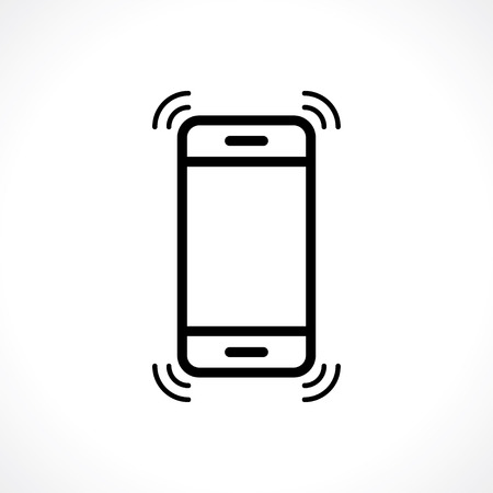 ringtone: phone rings icon. vector eps8